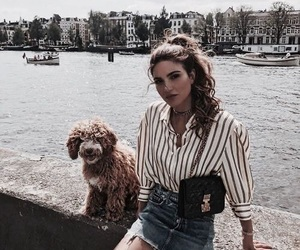 fashion, girl, and dog image