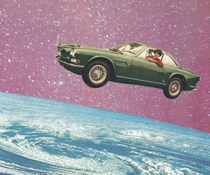 space, car, and galaxy image