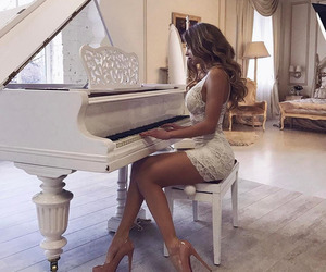 luxury, piano, and style image