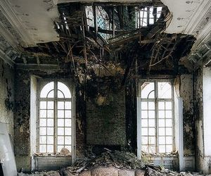 abandoned, belgium, and castle image