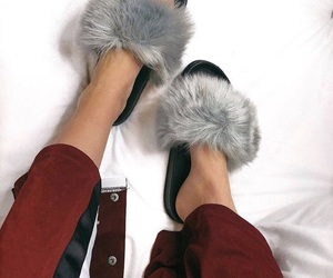 fluffy, girly, and shoes image