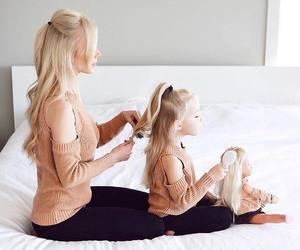 barbie, daughter, and blonde image
