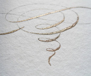 love, girl, and gold image