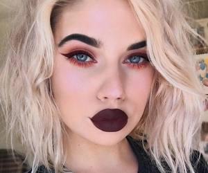 blonde hair, blue eyes, and girl image