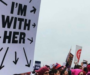 feminism, march, and rally image