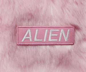 alien, pink, and space image