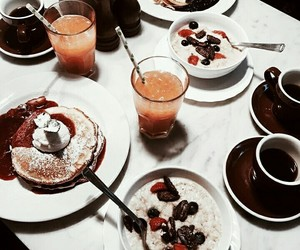 cafe, coffee, and fruit image