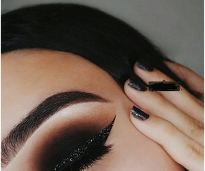 aesthetic, glitter, and make-up look image