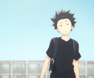 anime, a silent voice, and movie image