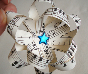 music, stars, and bow image