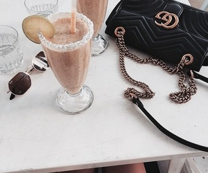 bag, gucci, and drink image