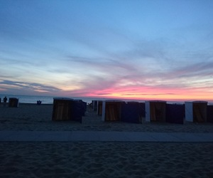 beach, holland, and sunset image