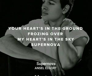Lyrics, supernova, and ansel elgort image