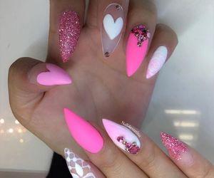 gel, long nails, and nails. polish image
