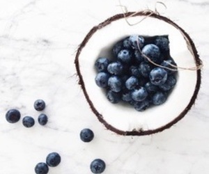 aesthetic, berries, and coconut image