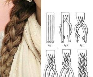 hair, braid, and diy image