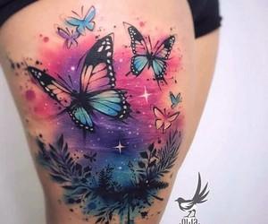 acuarela, amor, and mariposa image