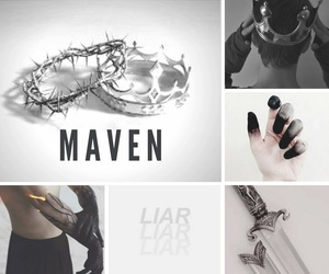 red queen, maven, and mare barrow image