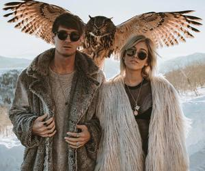 couple and owl image