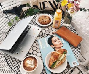 breakfast, Elle, and cafe image