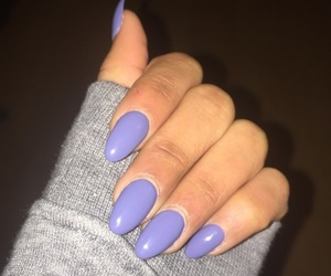 lila, nails, and purple image