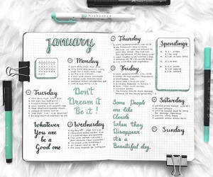 college, motivation, and notebook image