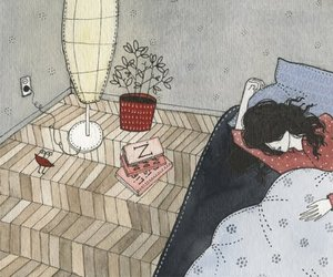 art, book, and sleep image