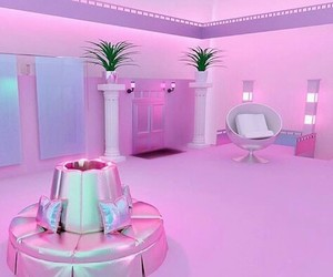 aesthetic, pink, and art image