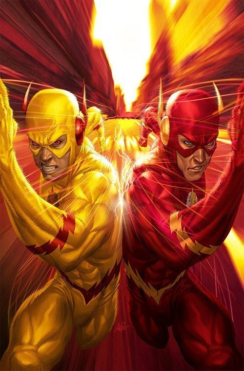 flash, dc comics, and reverse flash image