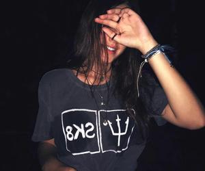 girl, tumblr, and dark image