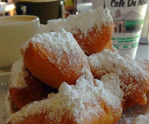 dessert, food, and new orleans image