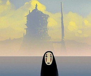 no face, spirited away, and studio ghibli image
