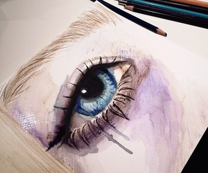 art, artist, and portraits image