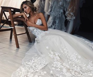 bride, dress, and elegance image