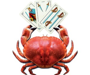cards, digital, and crab image