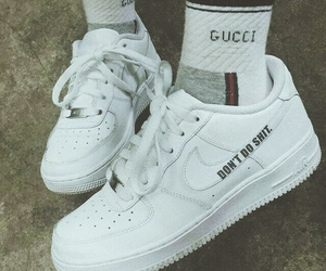 gucci, nike, and shoes image