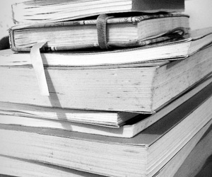 bookish, books, and bw image