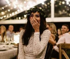 flower, girl, and white dress image