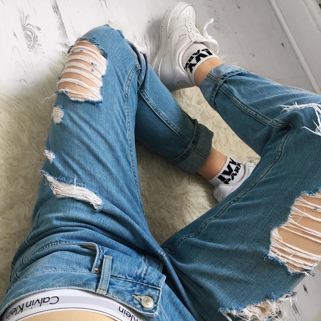 aesthetic, boyfriend jeans, and denim image