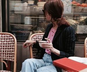 cafe, food, and girl image
