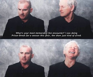 prison break, dominic purcell, and victor garber image