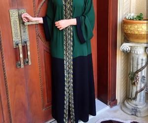 black, fashion, and green image