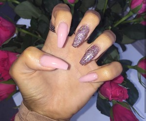 nails, accessories, and glam image