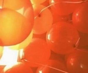orange, aesthetic, and balloons image