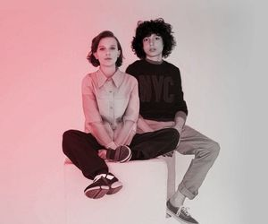 finn wolfhard, millie bobby brown, and eleven image