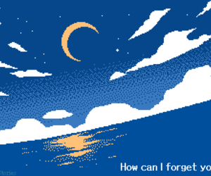 blue, pixel, and quotes image