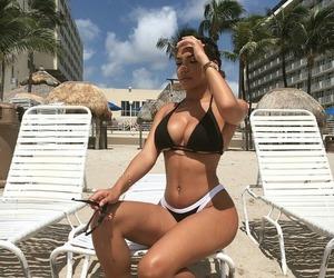 girl, fashion, and bikini image