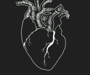 black, heart, and tumblr image