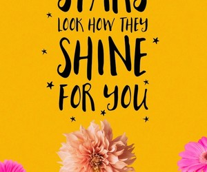 bright, calligraphy, and flowers image