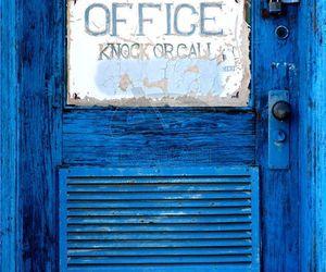 blue door, old, and vintage image